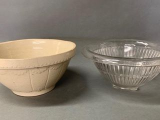 Pair of Mixing Bowls as Found