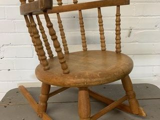 Small Childs Quebec Pine Rocking Chair