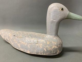 Early Folk Art Carved Wooden Decoy