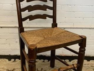 Fine Rush Seat ladder Back Side Chair
