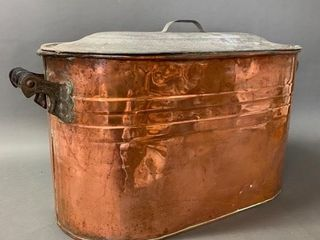 Copper Boiler with Handles and Rare lid