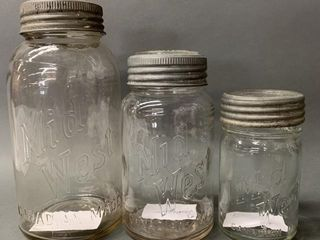 3 Mid West Canadian Preserve Jars