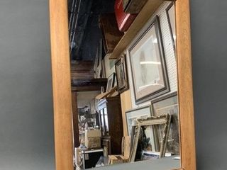 Simple Maple Framed Wall Mirror
