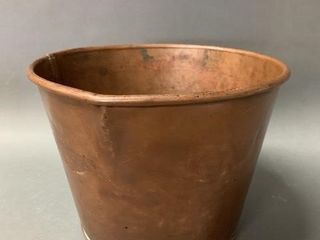Early Copper Pouring Pot with Welded Seam