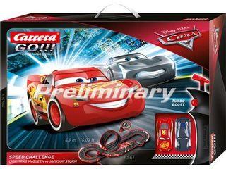 Carrera GO 62476 Disney Pixar Cars Speed Challenge Electric Slot Car Racing Track Set 1 43 Scale