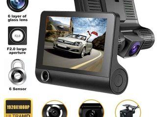 4  HD 1080P 3 lens Rearview Backup Camera and Monitor Video System Car DVR Camera Video Recorder Dash Cam G Sensor