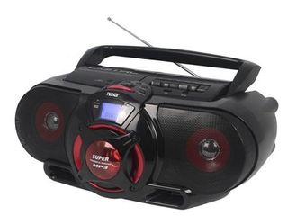 Naxa Portable BluetoothAr MP3 CD AM FM Stereo Radio Cassette Player Recorder with Subwoofer and USB Input  Retail 84 84