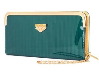 lady Wallet Clutch with Detachable Chain Wristlet   S