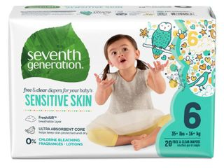 Seventh Generation Sensitive Skin Diapers   Size 6   100 Pack