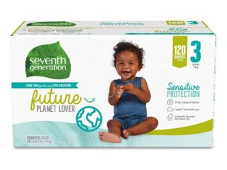 Seventh Generation Sensitive Protection Diapers   Size 3   120 Pack