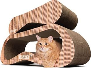 ScratchMe 2 In 1 Cat Scratching Post Cardboard lounge Bed