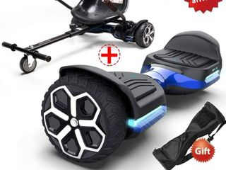 Gyroor HoverBoard w  Trike Attachments