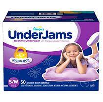 Pampers Ninjamas Nighttime Girls Underwear   Size S M   44 Pack