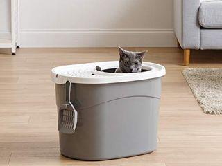 IRIS Top Entry Cat litter Box w  Scoop