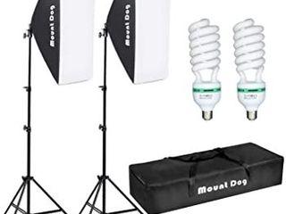 Mountdog Softbox  Daylight Bulb  light Stand  amp  Carry Bag