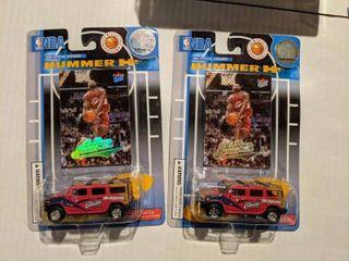 2  Unopened NBA lebron James Hummer H2 Miniature Cars