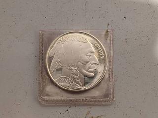 2009 Indian Head Buffalo Round 1oz  999 Fine Silver