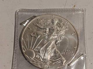 2014 American Silver Eagle Peace Dollar 1oz  999 Fine Silver