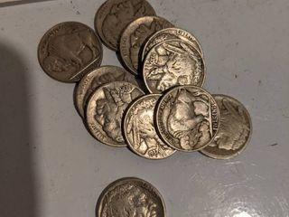 11  1935 1937 Buffalo Nickels