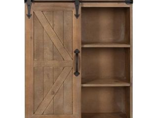 Kate and laurel Cates Wood Wall Storage Cabinet with Sliding Barn Door Retail 169 99