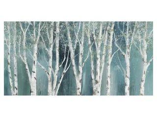 Masterpiece Art Gallery Birch On Blue Soft Mystical Forest by Nan Canvas Art Print