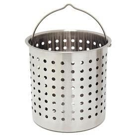 Bayou Classic 44 Qt  Stainless Perforated Basket
