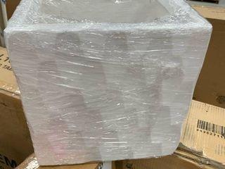 Kante 12x12 white planter