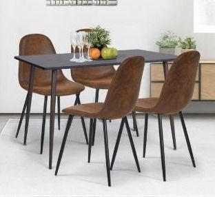 Carson Carrington lafsekulla Faux Suede Dining Chair  Set of 4  Retail 211 49