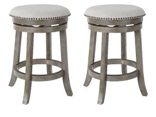 OSP Home Furnishings Metro 26 inch Backless Swivel Stools  2 Pack Retail 166 99