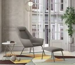 Strick and bolton Breto modern chair and ottoman