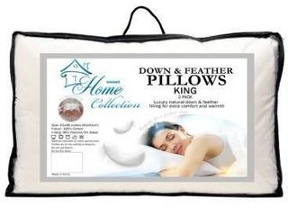 Sweet home collection down and feather pillows king 2 pack