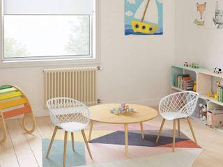 Jamesdar Kurv Mini Kids Play Chair Set of 2   White Natural