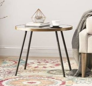 Jamesbury minimalist circular side table