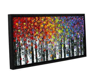 ArtWall Susanna Shaposhnikova s Birch  Gallery Wrapped Floater framed Canvas Retail 132 99