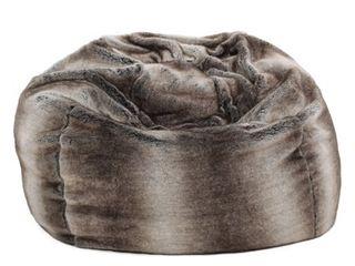 Monroe Glam 3 Foot Faux Fur Bean Bag Chair by Christopher Knight Home Retail 174 99