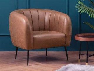 Silver Orchid Burbridge Velvet Channel Accent Chair Retail 396 99