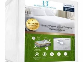 Home fashion designs rayon from bamboo waterproof mattress protector  king size
