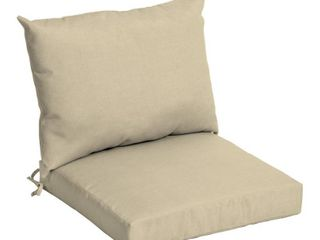 Arden Selections 21 in  x 17 in  2 Piece Deep Seating Outdoor lounge Chair Cushion in Taupe leala Texture