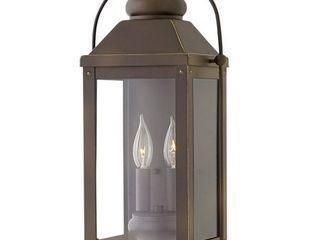 Hinkley lighting 1854 Anchorage 2 light 17 3 4  Tall Outdoor Heritage Wall Sconc