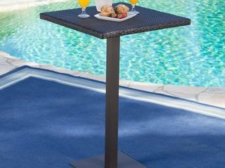 Dominic Outdoor Wicker 26 inch Square Bar Table by Christopher Knight Home Retail 153 49