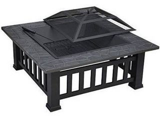 43 in  W x 18 in  H Outdoor Square Burning Fire Pit Retail 208 49