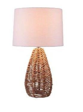 Bayne Natural Rattan Table lamp   14  x 25  Retail 77 98