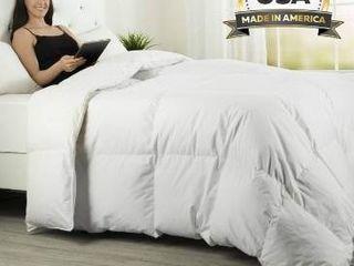 ComfyDown luxurious White Egyptian Cotton Goose Down Comforter Retail 165 49