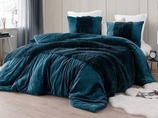 Queen  Coma Inducer Oversized Oversized Comforter   Are You Kidding   Nightfall Navy  Shams not included  Retail 124 99
