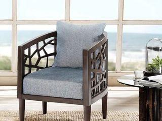 Carson Carrington lihula Blue lounge Accent Chair Retail 451 49