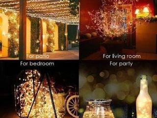 72ft IP65 Waterproof 200 lED Solar String lights Outdoor Indoor Patio Garden Decorative