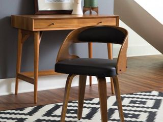 Carson Carrington Uberg 18 inch Bentwood Frame Dining Chair w  vinyl back  1 chair only