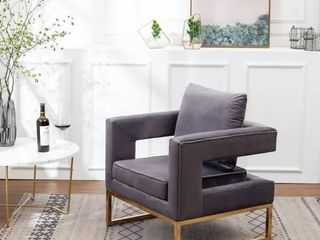 lenola Contemporary Upholstered Accent Arm Chair  missing hardware