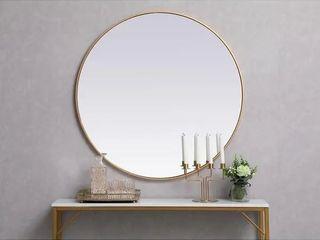 Carson Carrington labbemala Metal Frame Round Mirror Retail 173 49