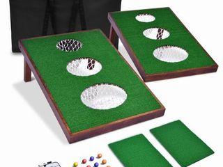 GoSports BattleChip VERSUS Golf Game Includes Two 3  x 2  Targets  16 Foam Balls  2 Hitting Mats  Scorecard and Carrying Case